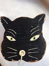 String Holder Cat Vintage Wooden Box