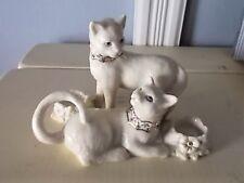 Lenox Porcelain Handcrafted Bejeweled Loving Cats Ring Holder 2003