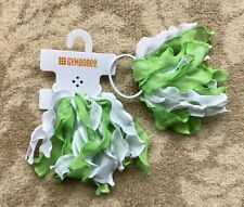 Gymboree Girls Hair Bobble / Tie x 2 -   Green And White, Brand New With Tag