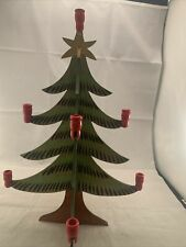 1930'S Wooden Christmas Tree With Candle Holders Beautiful Condition