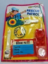 Nos Vintage 1970s Recue Patrol Famus Toys Play Set Retro Keys Police Radio Badge