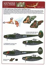 NEW 1:48 Kits World Decals 48209 Lockheed P-38 Lightning's of the Pacific Set 4