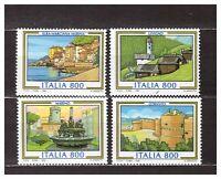 S31168) Italy MNH 1998 Tourist 4v Otranto Marino Livigno Elba Marciana M