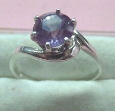 Round 7mm Alexandrite Lab Created Chrysoberyl Silver 925 Ring skais MY17