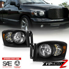 2006-2008 Dodge Ram 1500 [SRT-10 STYLE] Black Crystal Headlights 06-09 Ram 2500