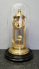 Vintage Brass Pagoda Portico or Bandstand Clock with Base and Glass Dome