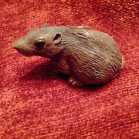 Objet de curiosité Chine ou Japon petite souris sculpture rat