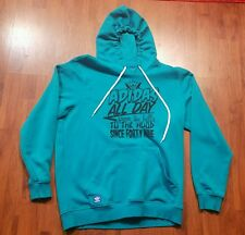 $89 ADIDAS MENS ALL DAY FROM THE HILLS HOOD SINCE FORTY NINE LARGE L HOODIE TEAL