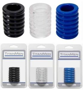DOC Johnson TITANMEN SPIRAL [TPE] Rubber C-Cage Firm Grip Ball Stretcher Ring