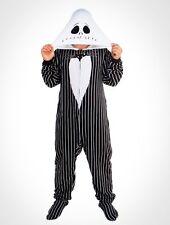 Nightmare Before Christmas Jack Skellington Footed Pajamas Costume S M XL or XXL