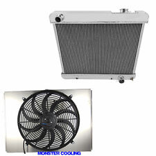 "1963-1966 Chevy Truck  Radiator & Shroud & 16"" Fan & Relay Kit- 4 Row Aluminum"