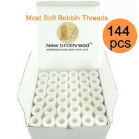 144pcs Prewound Bobbin Thread Size A For Embroidery & Sewing