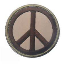 ANTI-WAR FOR PEACE ANTIWAR 3D ARMY TACTICAL MORALE BADGE EMBRODIERED PATCH #02