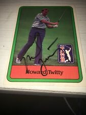 Howard Twitty Signed 1981 Golf Card