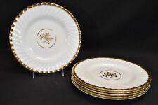 Minton Gold Rose H4680 Newer Backstamp Set of 6 Luncheon Plates