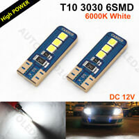 10x T10 194 LED Canbus No Error 6SMD White 6000K Car Side Light Dome Lamp Bulbs