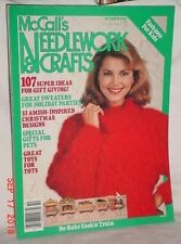McCALLS NEEDLEWORK CRAFTS OCTOBER 1986 GIFTS SWEATERS CHRISTMAS DESIGNS COOKIES
