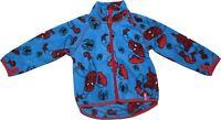Spiderman Rotary Print Fleece Zipped Sweater Jumper