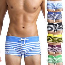 Sexy swimming BOXER SHORT fitted trunks Bright beach pool lined stretch 2019-pj