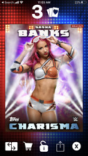 Topps WWE Slam *Digital* 2016 Charisma Purple Variant Insert Card Sasha Banks