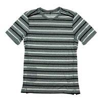 $40 Nike Men's Tailwind Striped Short Sleeve Polo Shirt (Small, Black/Silver) 1
