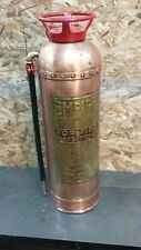 "RARE Antique Vintage ""EMPIRE"" Copper Brass Fire Extinguisher-Polished & Restored"