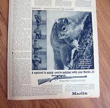 1962 Marlin Rifle Gun .22 Ad  Marlin 99-C 22