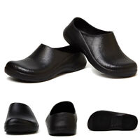 Men Chef in Kitchen Anti-slip Safety shoes Oil&Water Proof for Cooking Black New