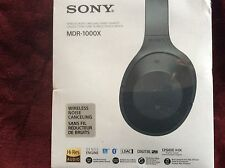 Sony - 1000X Wireless Noise Cancelling Headphones - Black NEW, FACTORY SEALED