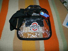 "Ohio State Crossbody Carryall Clear Bag w/Zipper 12""x12""x6"""