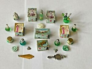 SHABBY CHIC GREEN  ACCESSORIES FOR A 1/12 SCALE DOLLS HOUSE
