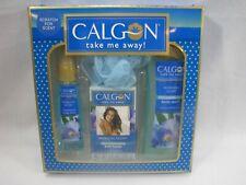 Calgon Take Me Away Morning Glory Gift Set Body Wash Mist Bath Beads Sponge Pouf