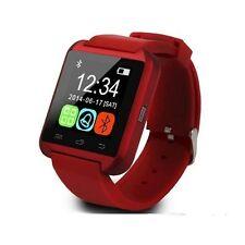 Smartwatch U8 Bluetooth per Huawei P8 lite 2017, P10, P10 plus, P10 lite rosso