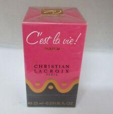 CHRISTIAN LACROIX C'est la vie! 0.25 oz/7.5 ml  PARFUM NIB SEALED RARE