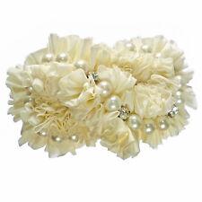 Pince barrette cheveux femme mariage danse infini crème perles ivoire cristal