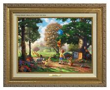 Thomas Kinkade Winnie The Pooh II Canvas Classic (Gold Frame)
