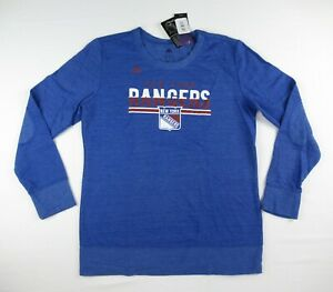 adidas Women's New York Rangers NHL Comfy Crew Sweatshirt Size S