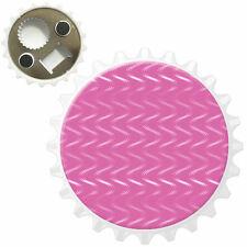 White Wavy Lines Bottle Opener Fridge Magnet