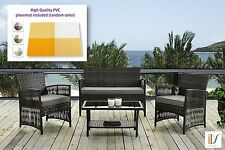 Garden Furniture Yard Front door Outdoor Balcony Patio Rattan set 4pcs+ Placemat
