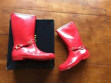 Ralph Lauren Woman's Wellingtons Rubber Boots Red Size 5