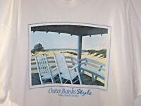Vintage 1995 Outer Banks Style T-Shirt XXL Corolla, North Carolina Cotton Tee