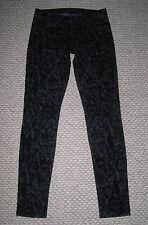 J BRAND SKINNY LEG 811 BLACK VELVET BROCADE PRINT 26 STRETCH JEANS EUC