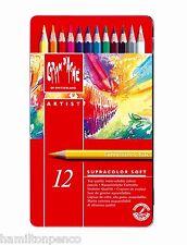 CARAN D'ACHE SUPRACOLOR SOFT TIN of 12 water soluble soft colour pencils