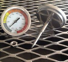 """2 5/8""""GP BBQ CHARCOAL GAS ELECTRIC GRILL SMOKER PIT THERMOMETER 50-550 2.75 stem"""