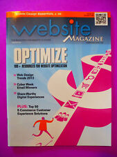 Feb 2013 WEBSITE Magazine ~ Optimize, Web Design Trends, Cyber Week Winners +