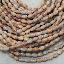 a 35 inch 89cm strand of small oval agate stone beads new #2087