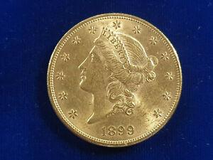 🌟1899-P $20 Gold Liberty Head Double Eagle Twenty Dollar UNC Uncirculated Coin