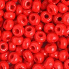 33/0 Opaque Red Czech Seedbeads 40 Grams