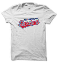 Tee Shirt All American BaseBall by Misaturne - California USA Americain Sport