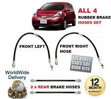 per Nissan Note 2006-2013 Anteriore SX & DX GOMMA + 2x CENTRALE TUBO FRENO